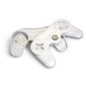 Video Game controller 3D Printed in Accura Xtreme White 200 (SLA)