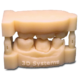 Accura e-Stone (SLA) in Jaw model
