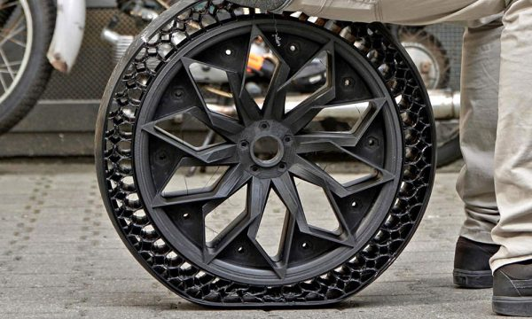 Airless Tire 3D Printed with TPU