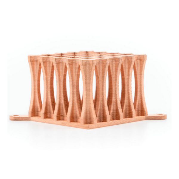 3D Printed part with Copper