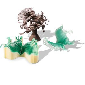3D Parts printed in Visijet M3 Dentcast