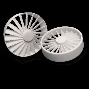 3D Printed parts with DuraForm HST Composite (SLS)