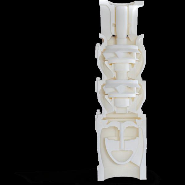 3D Part Printed with VisiJet CR-WT 200 (MJP)