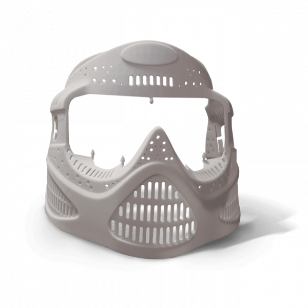 Helmet 3D Printed in VisiJet M3-X (MJP)