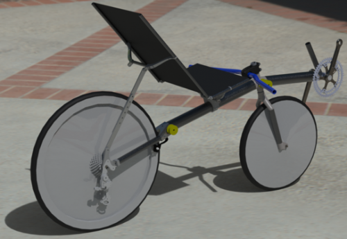 a realistic render of the planned bike