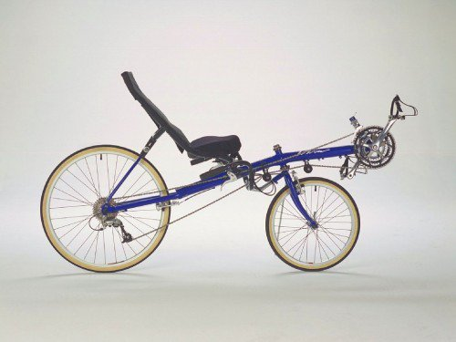 A stock photo of a Vision R40 recumbent bicycle